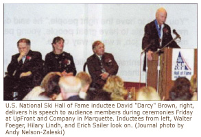 David Brown delivers speech during Hall of Fame Induction