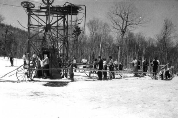 Jay Peak - Base of Poma Lift, to right of Open Slope - circa 1959