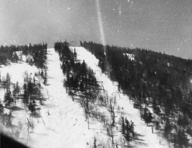 Jay Peak - aerial photo Spring 1960