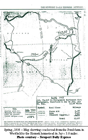 Map showing coachroad in Jay