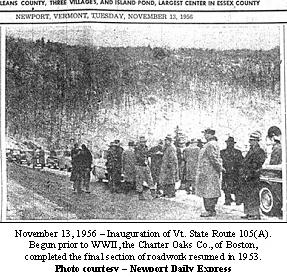 Inauguration of Vermont State Route