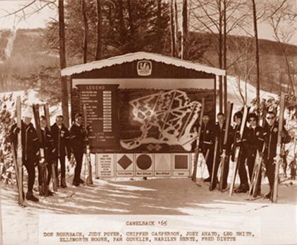 Camelback Mt. (Pa.), ski school assembly area in 1965