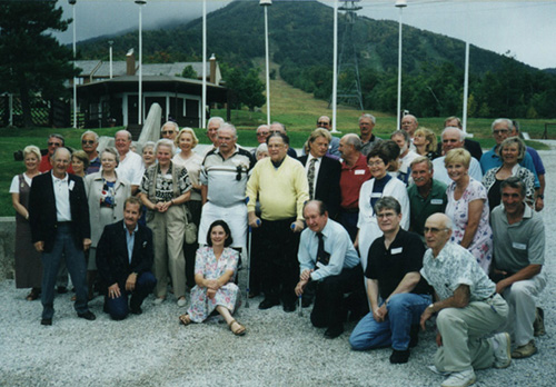 Gathering of ASTAN alumni in September of 1999, at base of Jay Peak, to pay  tribute to Walter Foeger