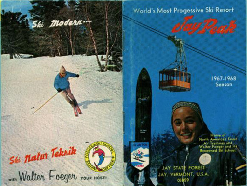 Cover of the 1967-68 Jay Peak promotional brochure