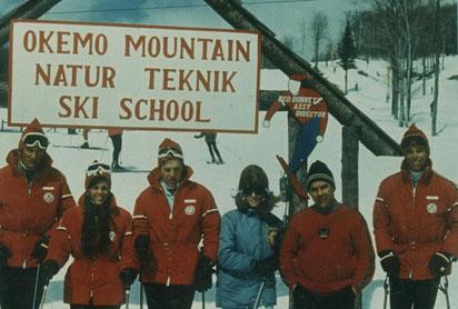 Okemo Mt. (Ludlow, Vt.) ski school assembly area circa 1964
