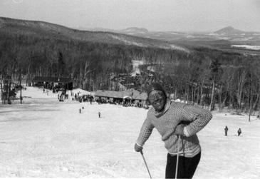 Walter Foeger on the Open Slope, Jay Peak, in spring of 1959
